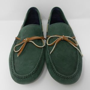 Cole Haan Nike Air Driving Loafers-Green-11.5